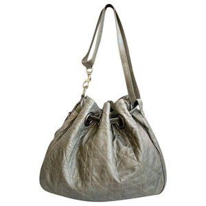 Authentic CHRISTIAN DIOR Cannage Lambskin Tote Bag